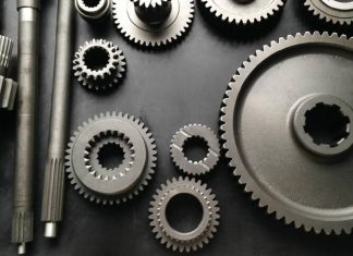 Mechanical gear made from 40Cr steel