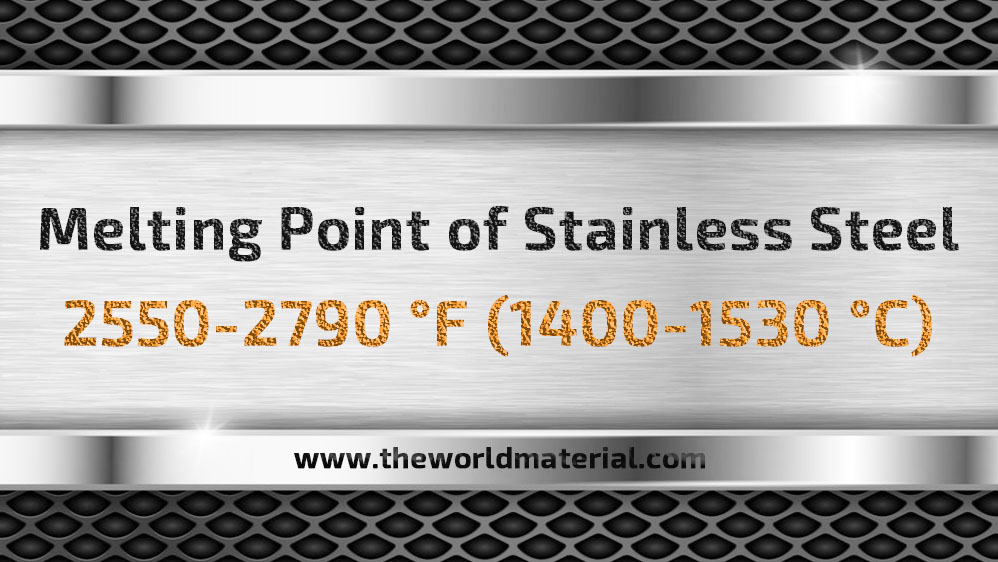 melting point of stainless steel 316 304 melting temperature temp